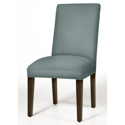 Pearl Parsons Chair Upholstery: Cloud, Finish: Dark Walnut