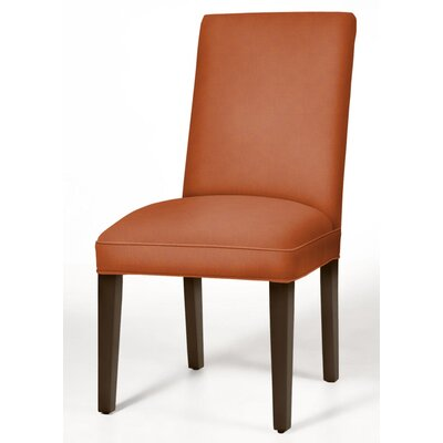 Pearl Parsons Chair Finish: Dark Walnut, Upholstery: Orange