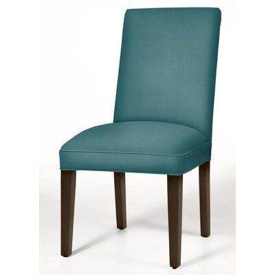 Pearl Parsons Chair Upholstery: Turquoise, Finish: Dark Walnut