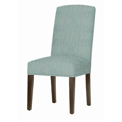 Asbury Upholstered Dining Chair Leg Color: Dark Walnut, Upholstery Color: Bahama