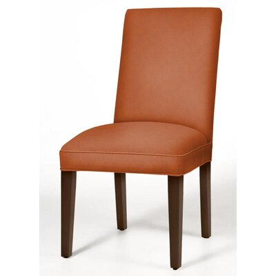 Pearl Parsons Chair Finish: Brown Cherry, Upholstery: Orange