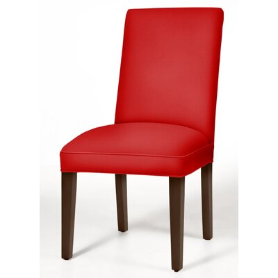 Pearl Parsons Chair Finish: Brown Cherry, Upholstery: Red