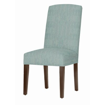 Asbury Upholstered Dining Chair Leg Color: Brown Cherry, Upholstery Color: Bahama