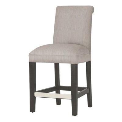 Donald 26 Bar Stool Leg Color: Matte Black, Upholstery Color: Stone