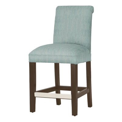 Donald 26 Bar Stool Leg Color: Dark Walnut, Upholstery Color: Bahama