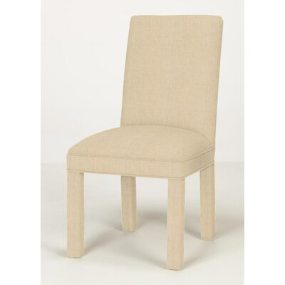 Brook Solid Parsons Chair Upholstery: Linen