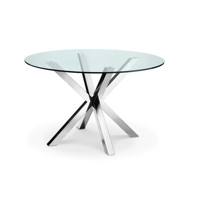 Bella Dining Table Base Finish: Polished Stainless Steel