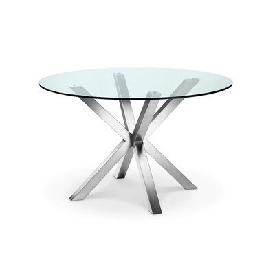 Bella Dining Table Base Finish: Brushed Stainless Steel