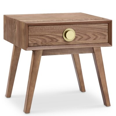 Moon End Table Finish: Gold