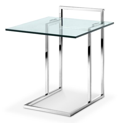 Kelly End Table Color: Polished Stainless Steel