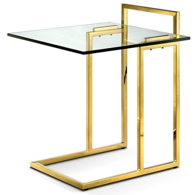 Kelly End Table Color: Polished Gold