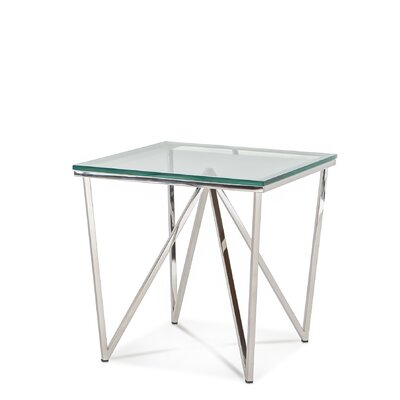 Soma End Table Color: Polished Stainless Steel