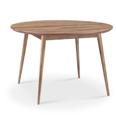 Sloan Round Dining Table Finish: Natural Walnut