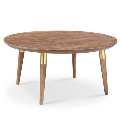 Sloan Round Coffee Table Color: Gold Tube