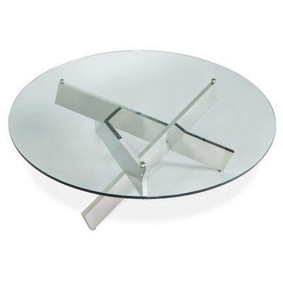 Bella Coffee Table Finish: Polished Stainless Steel