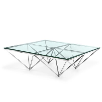Soma Coffee Table Color: Brushed Stainless Steel