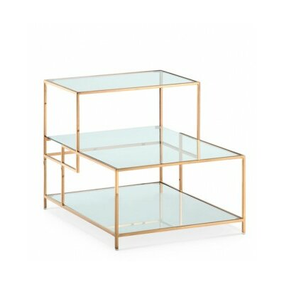 Maria End Table Finish: Rose Gold Steel
