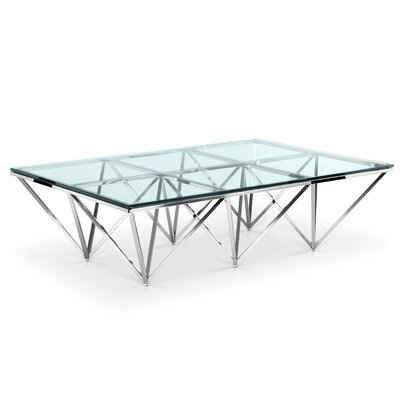 Soma Coffee Table Finish: Polished Stainless Steel
