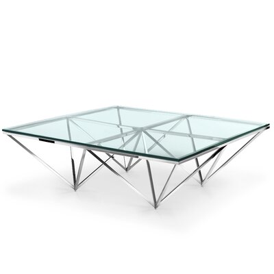 Soma Coffee Table Color: Polished Stainless Steel