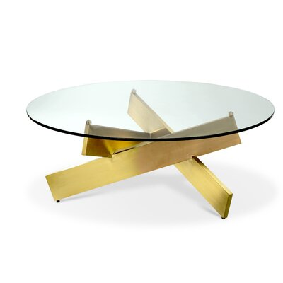 Bella Coffee Table Finish: Gold Polished Stainless Steel