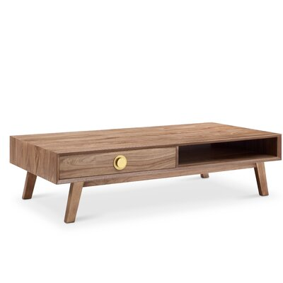 Moon Coffee Table Finish: Natural Walnut with Gold