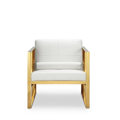 Mona Arm Chair Frame Finish: Polished Gold