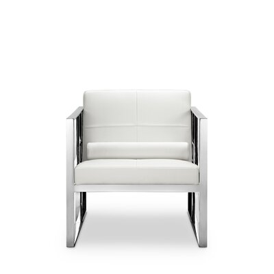 Mona Armchair Frame Finish: Polished Stainless Steel