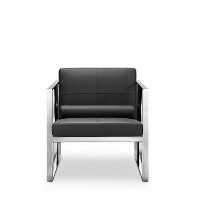 Mona Arm Chair Frame Finish: Polished Stainless Steel