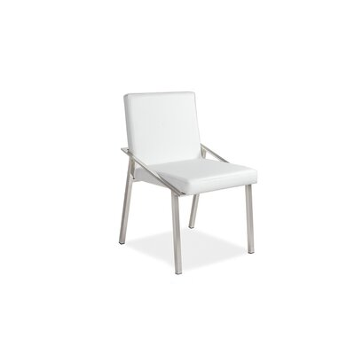 Kate Upholstered Dining Chair Upholstery Color: White