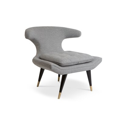 Isabel Lounge Chair Upholstery: Gray
