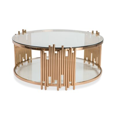 Anna Coffee Table Top Finish: Clear Glass