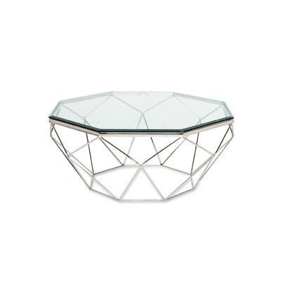 Dia Coffee Table Base Color: Polished Stainless Steel