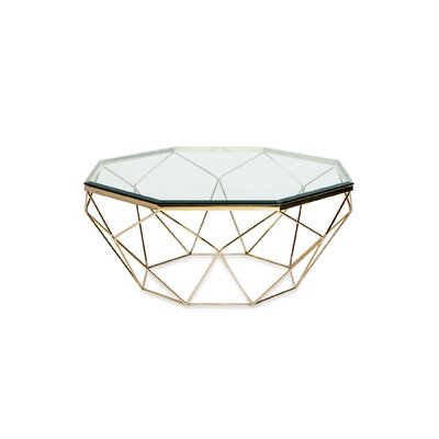 Dia Coffee Table Base Color: Polished Gold
