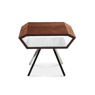 Bevel End Table Finish: Brown
