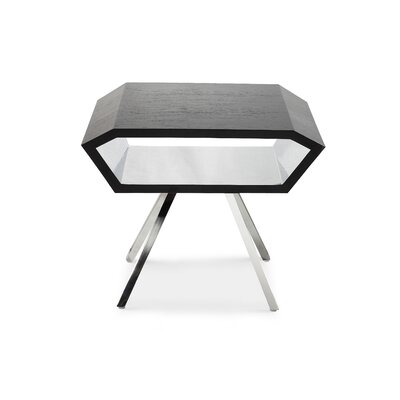 Karlee End Table Color: Black