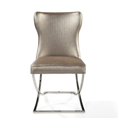 Derringer Upholstered Dining Chair (Set of 2) Upholstery Color: Gray