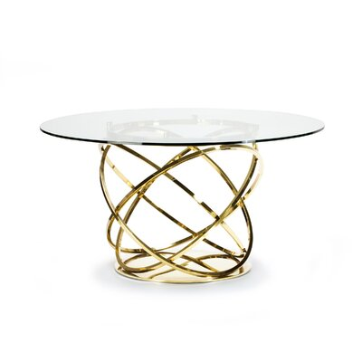 Orbit Dining Table Base Color: Gold, Size: 56 L x 56 W x 30 H