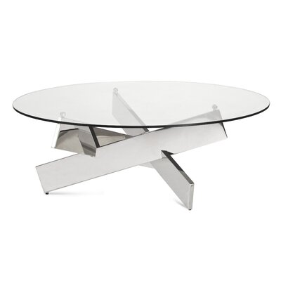 Joiner Coffee Table Color: Polished Stainless Steel