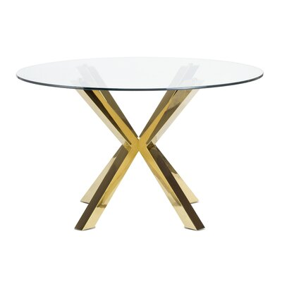 Joiner Dining Table Base Finish: Gold