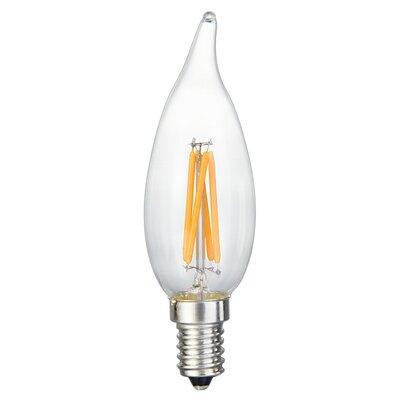 E12 LED Filament Light Bulb ML-4W-FLAME-2200K-C
