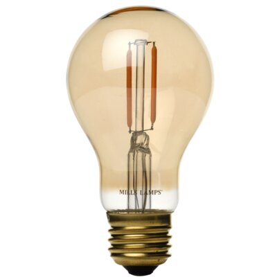 Amber E26 LED Vintage Filament Light Bulb Wattage: 40 W