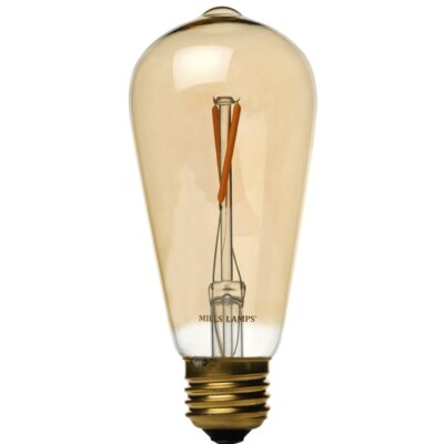Yellow E26 LED Vintage Filament Light Bulb Wattage: 25 W