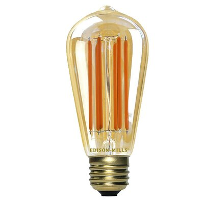 Yellow E26 LED Vintage Filament Light Bulb Wattage: 60 W