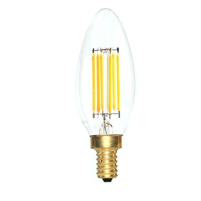 E12 LED Vintage Filament Light Bulb Wattage: 60 W