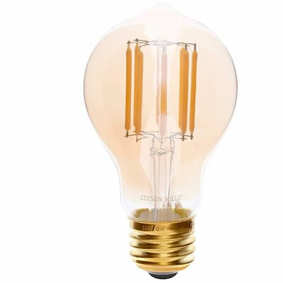 Amber E26 LED Vintage Filament Light Bulb Wattage: 60 W