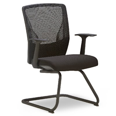 Score Mesh Guest Chair Seat Color: Black