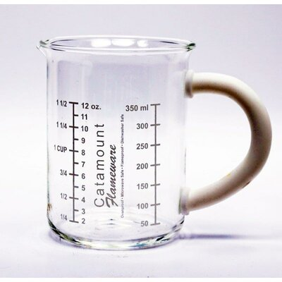 Glass Measuring Cup with Handle Color: White CGS4465WT