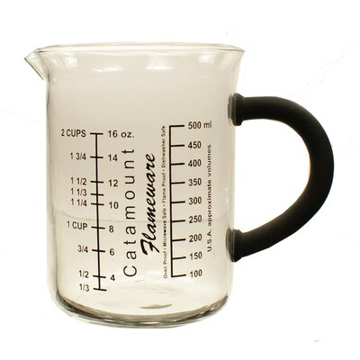 2 Cup Glass Measuring Cup with Handle Color: Black CGS4472BK
