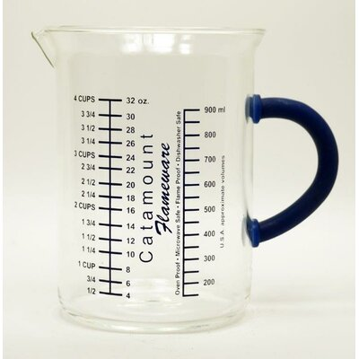 4 Cup Glass Measuring Cup with Handle Color: Blue CGS4489BL