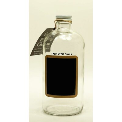 "Boston Round Chalkboard Decorative Bottle Size: 6.5"" H X 2.75"" W X 2.75"" D"